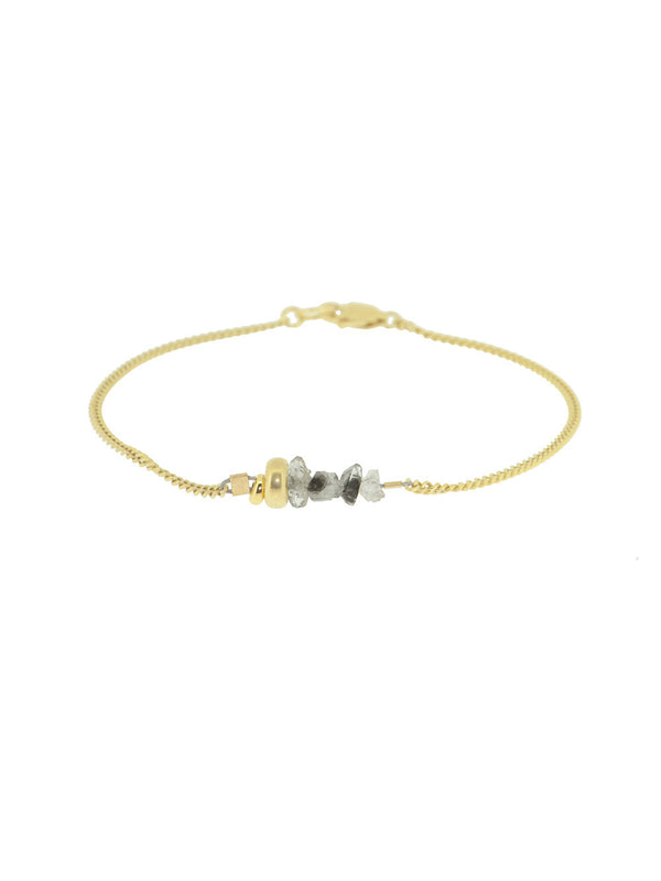 PLAY - CLEAR QUARTZ golden bracelet