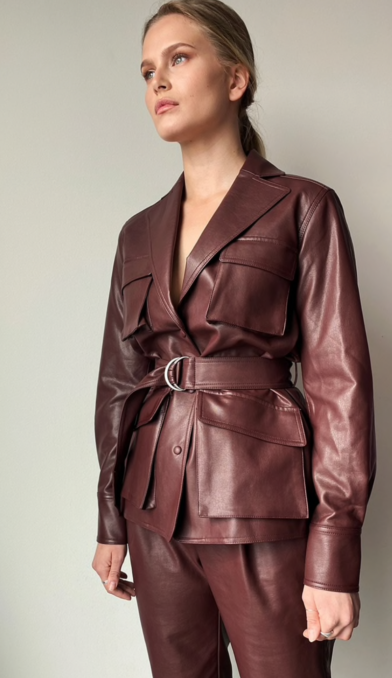 CECILIA jacket⎜Reddish brown
