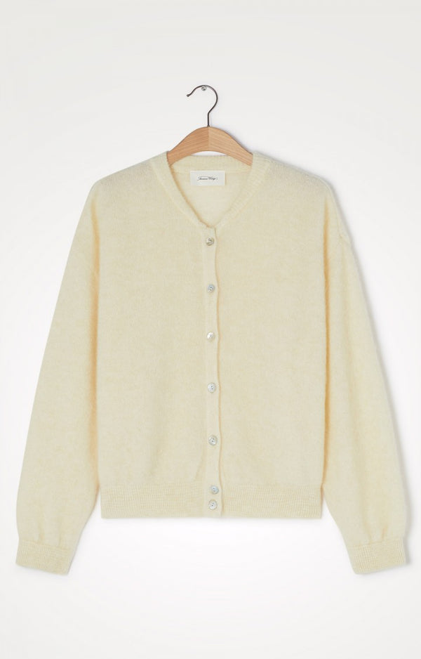 ZABIDOO cardigan o-neck⎜Coconut milk
