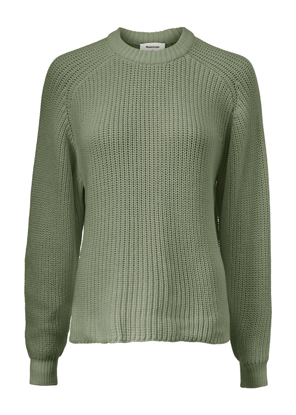 ETTA knit o-neck ⎜ Khaki