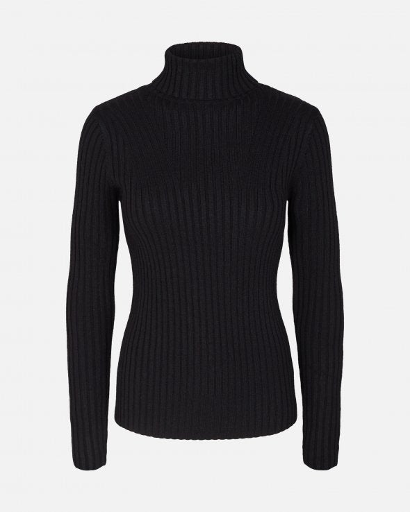 ERICA slim roll neck | black