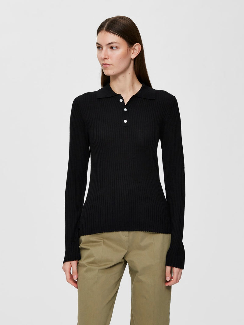 COSTA knit polo⎜Black