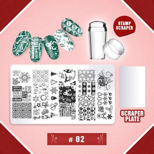 Nail Art Stamping Template Set