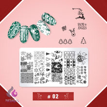 Load image into Gallery viewer, Nail Art Stamping Template Set