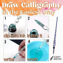 Load image into Gallery viewer, Scriptwriter™ Glass Dip Pen & Ink Set