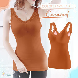 Cotton+™  Thermal Lace Padded Cami
