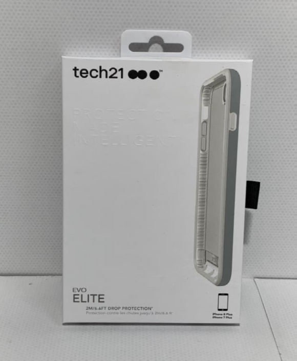 TECH 21 Evo Elite Case, IPHONE 7 PLUS, 8 PLUS- White