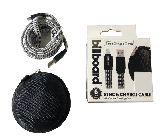 Billboard Sync and Charge Cable - 6 foot cable - iOS