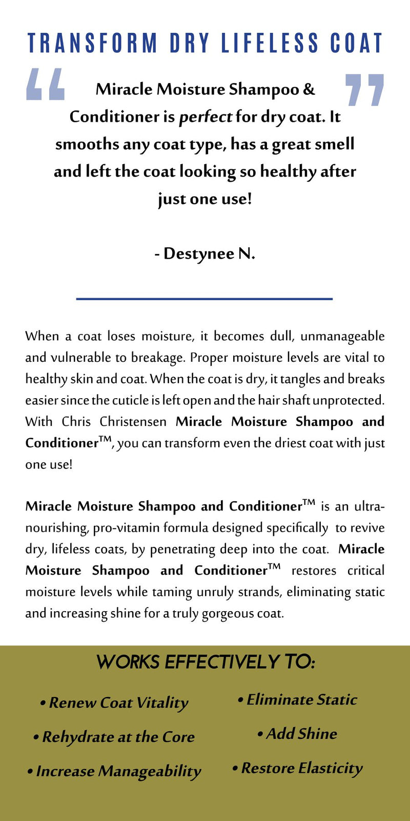 Diamond Miracle Moisture Shampoo