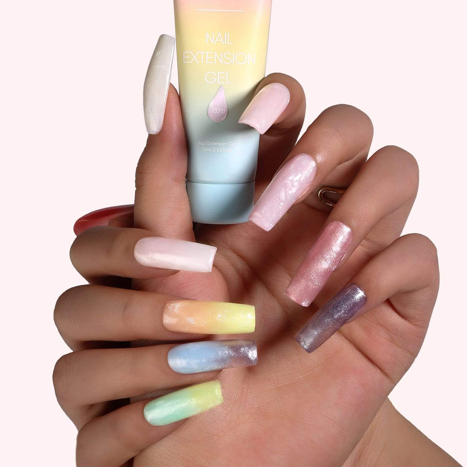 Eberouge 12 Color Nail Extension Gel Kit - Makartt
