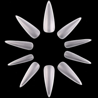 Pack of 500 Pieces Long Matte Stiletto Nail Tips