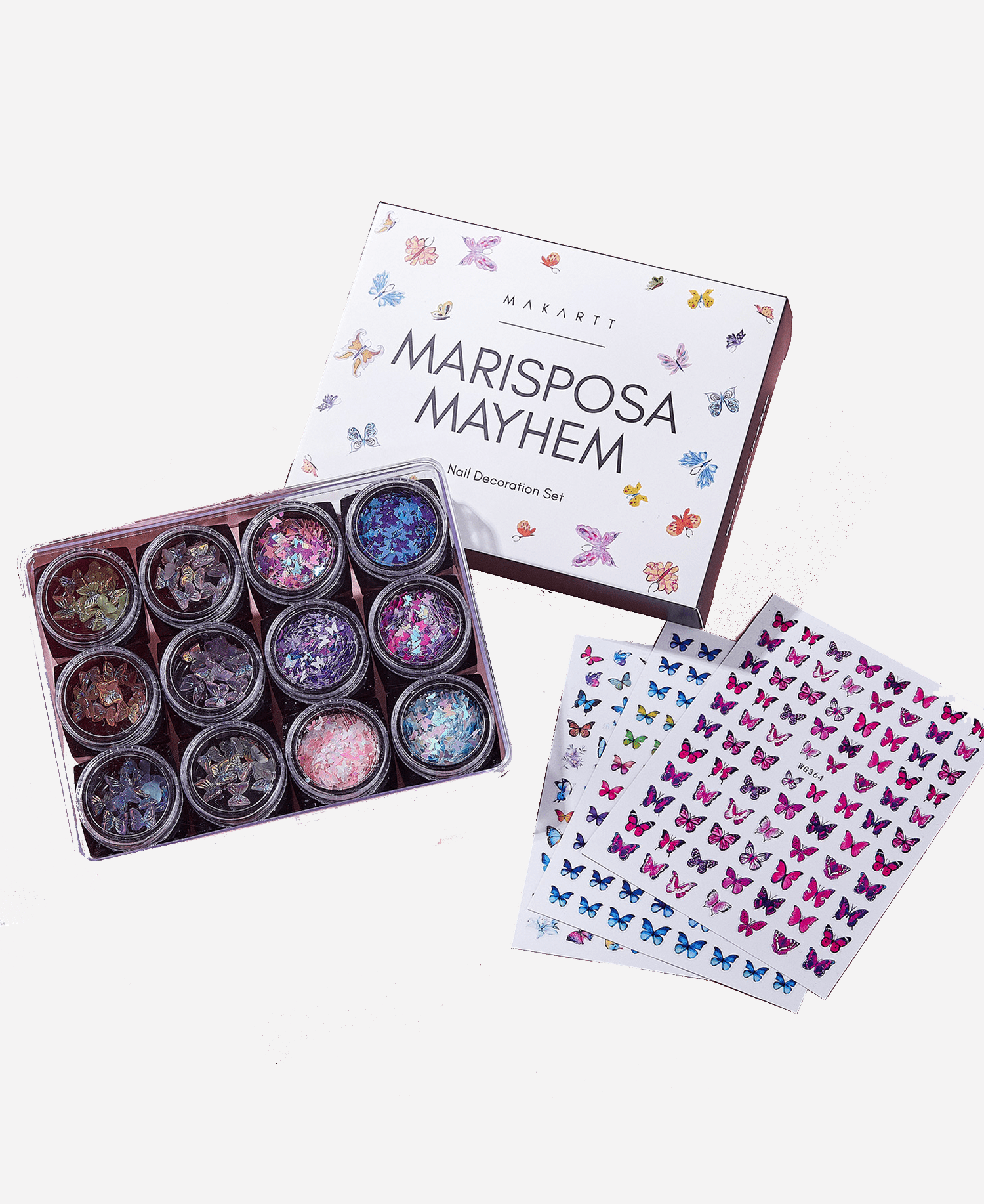 Mariposa Mayhem Nail Art Decoration Set