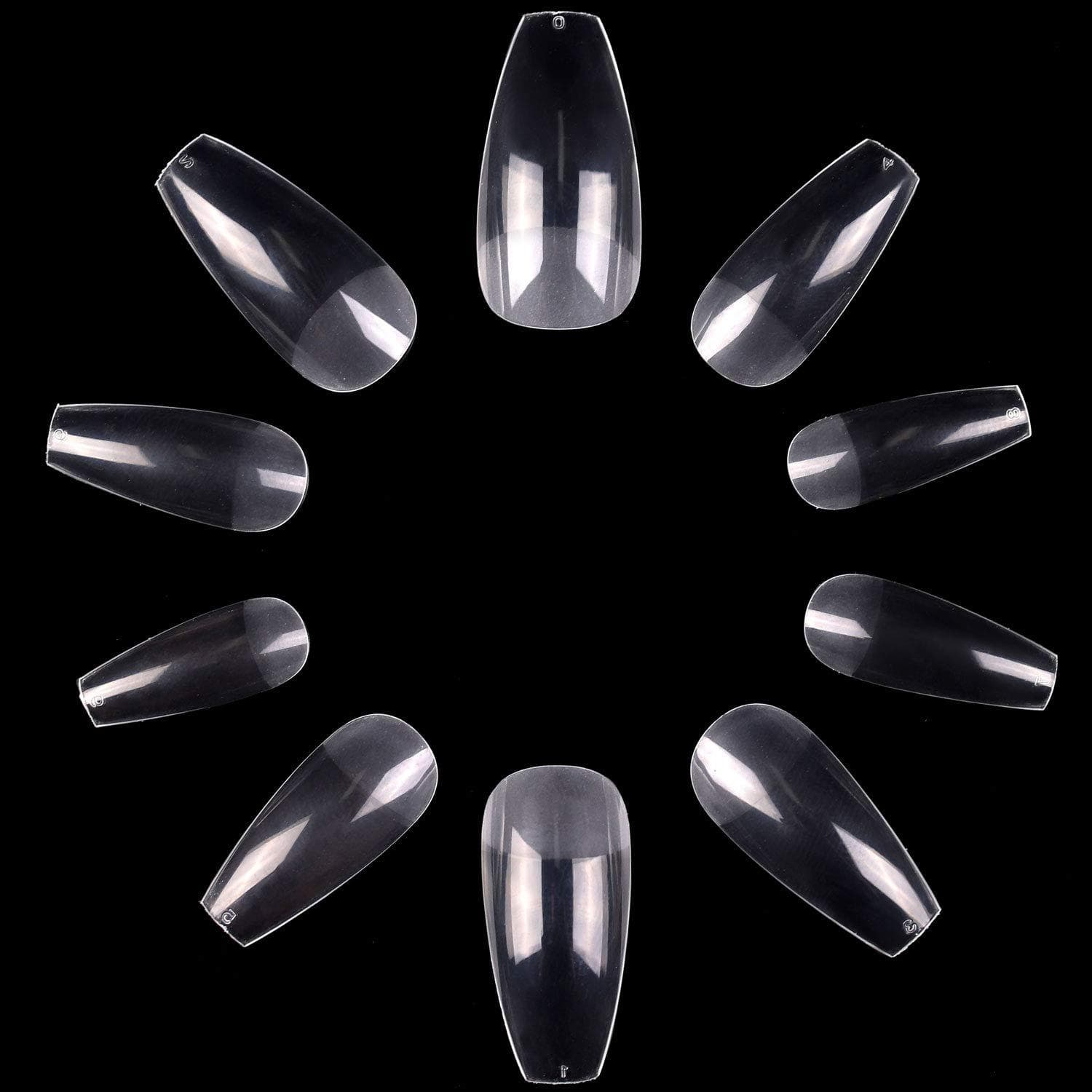 Pack of 500 Pieces Coffin Nail Tips - Makartt
