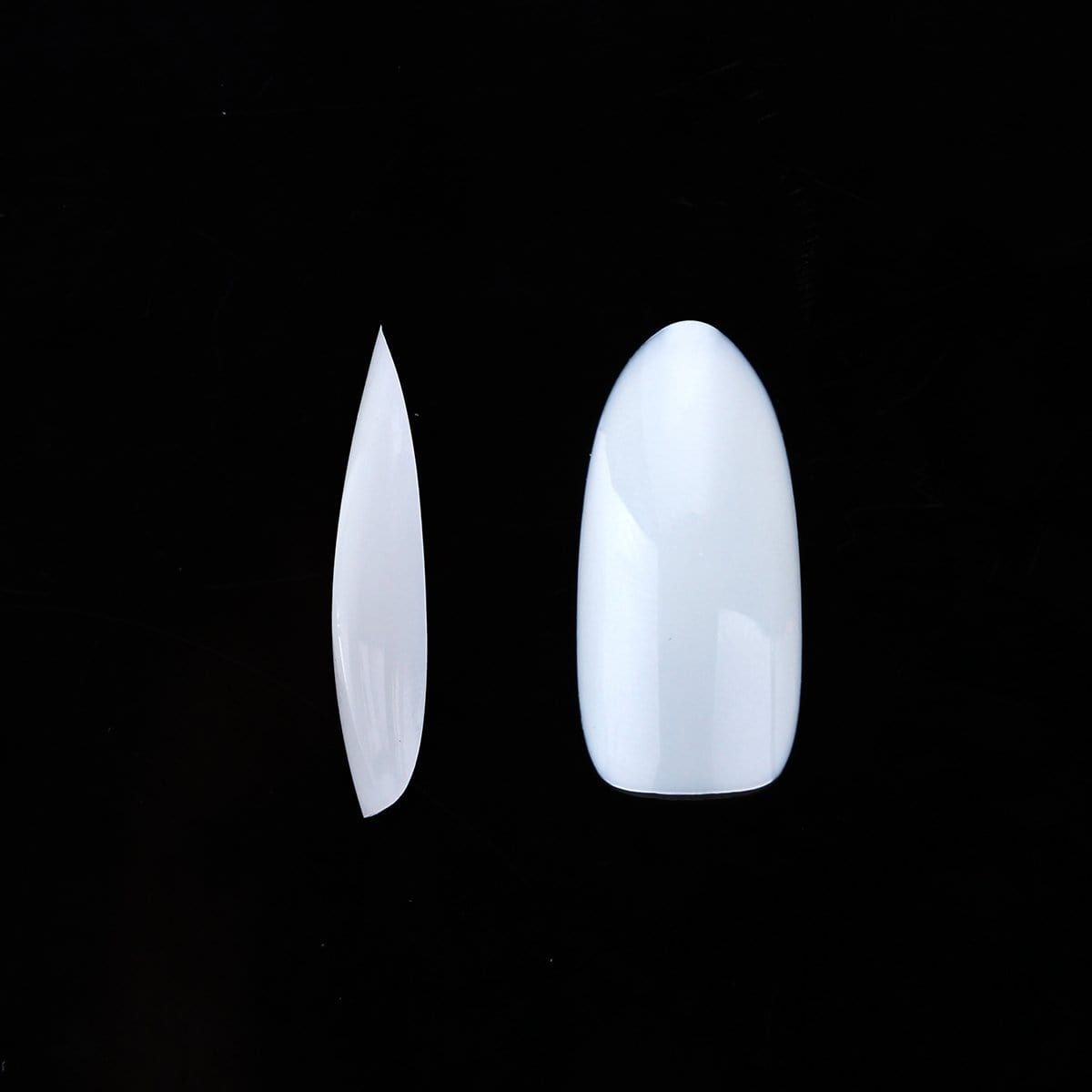 500pcs Oval Nails Tips Natural Full Cover 10 Sizes - Makartt