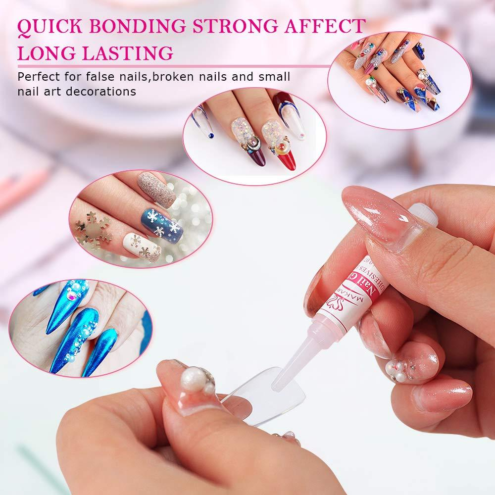 False Nail Kit with 500pcs Ballerina Nail Tips 4pcs Nail Glues 1pcs Nail File - Makartt