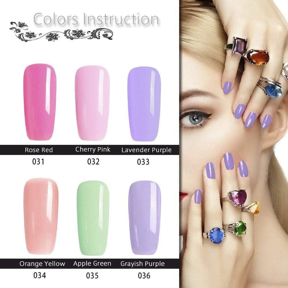 6 Color Misty Barbie Gel Polish Set - Makartt