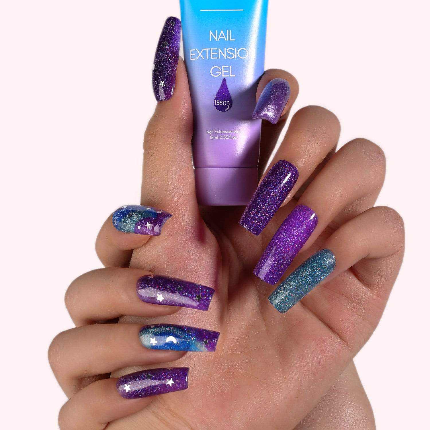 Starry Night Whispers 6 Color Poly Nail Extension Gel Kit - Makartt