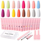 The Seasonal Concertos 16 Color Poly Nail Extension Gel Kit - Makartt