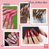 False Nail Kit with 500pcs Coffin Nail Tips 4pcs Nail Glues 1pcs Nail File - Makartt