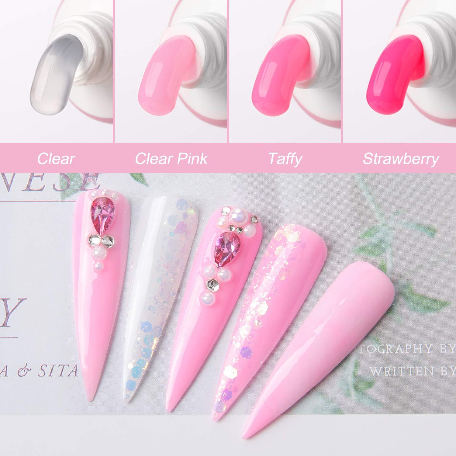 Pink Collection Poly Nail Extension Gel Starter Kit - Makartt