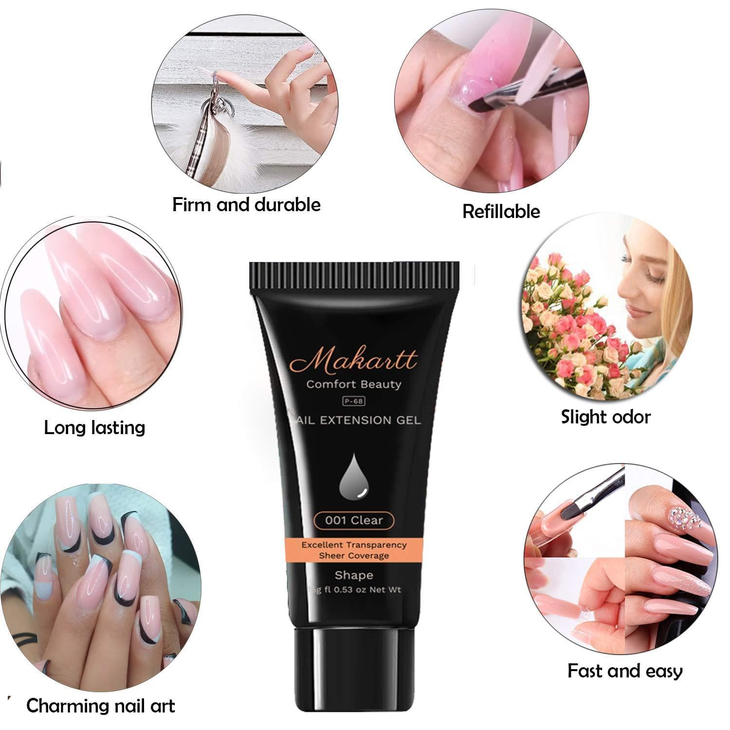 Classic Poly Nail Gel Extension Starter Kit - Makartt