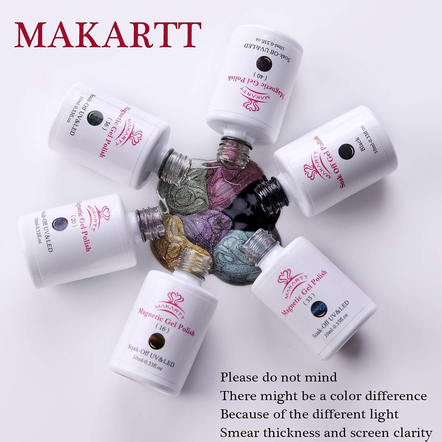 5 Colors Cat Eye Gel Nail Polish Set - Makartt
