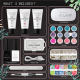 Mermaid Couture Nail Extension Gel and Glitter Starter Kit