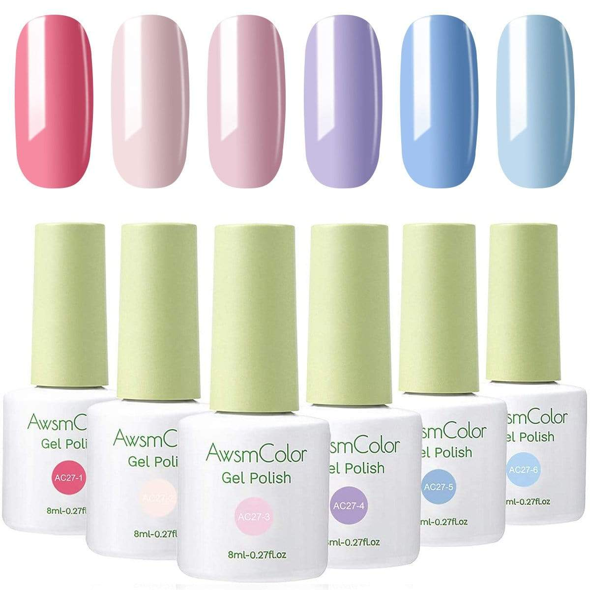 Summer Rainbow Neon Solid Series Gel Polish Set - Makartt