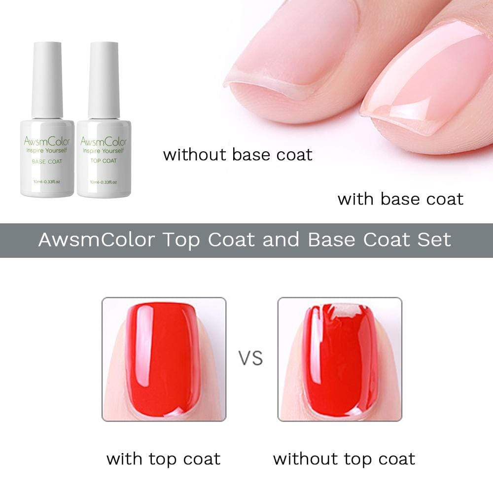 No Wipe Top Coat and Base Coat Set - Makartt