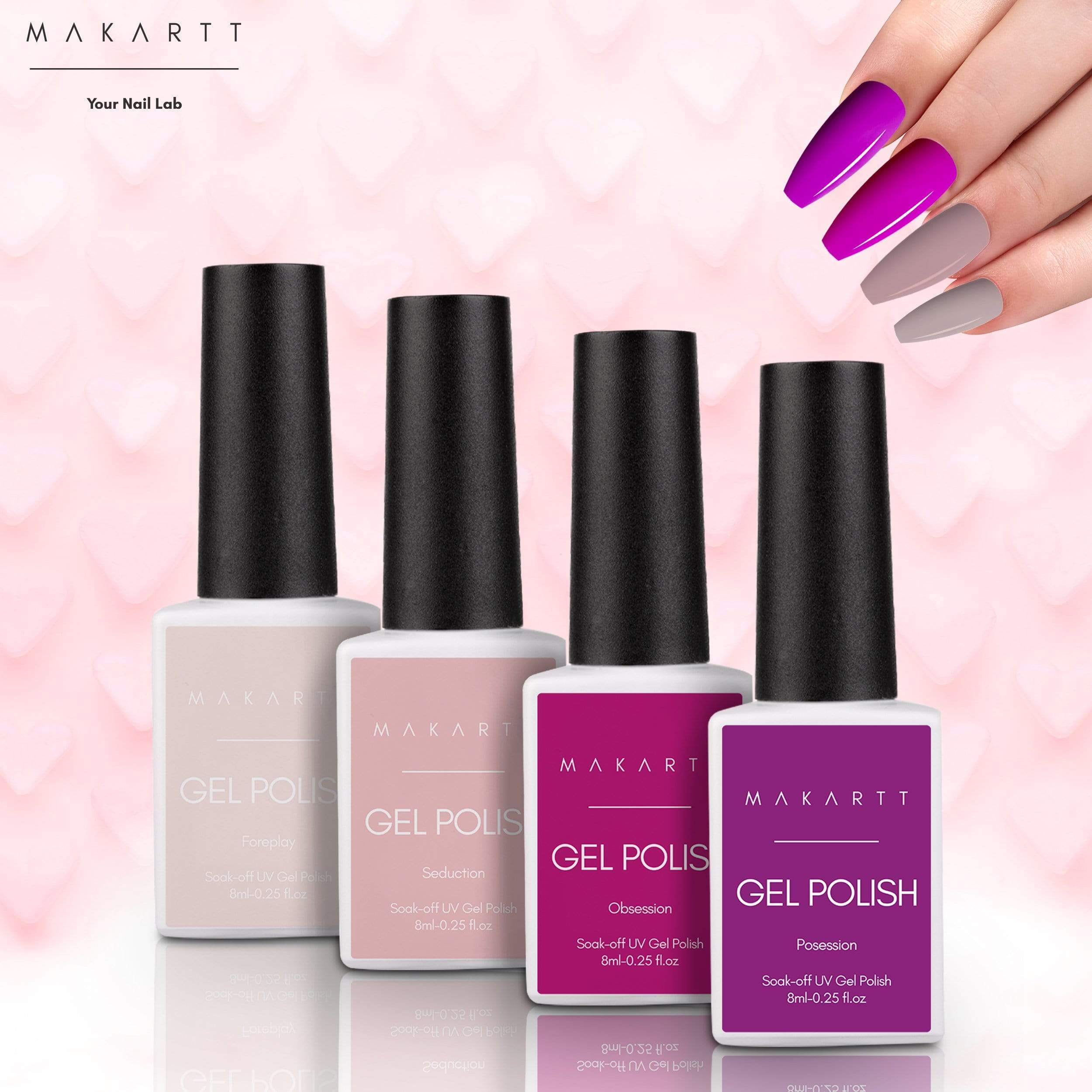 Hooked On Love 6 Color Valentine's Day Limited Edition Gel Polish Set