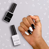 Noir & Blanc Black and White Gel Polish Set