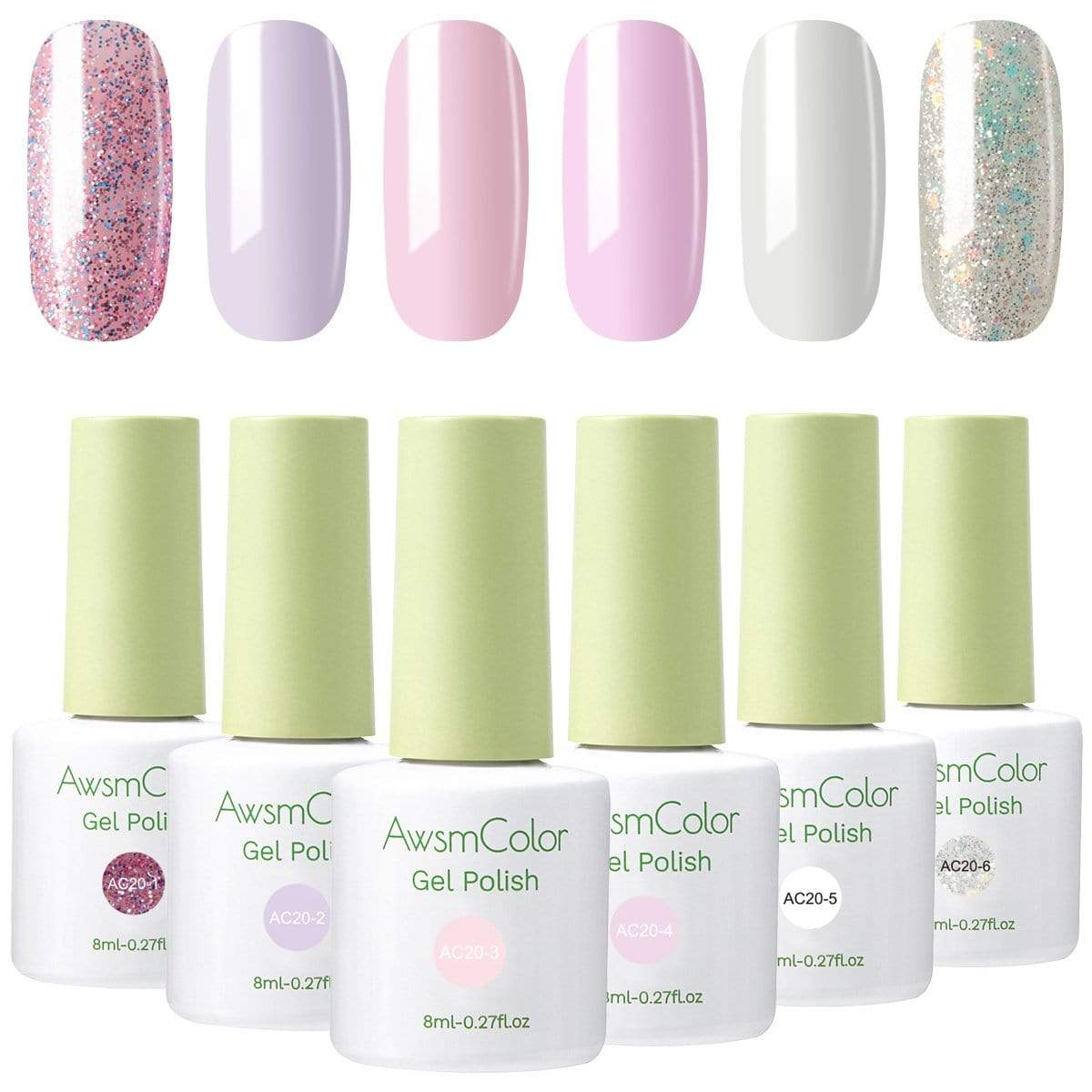 Sweet Wedding Baby Pink Gel Polish Set - Makartt