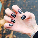 Halloween Cool Black Gold Glitter Gel Nail Polish Set - Makartt