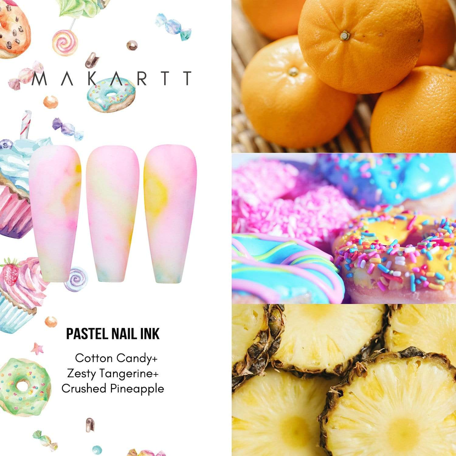 Sweet Cravings Watercolor Marble Nail Ink Set