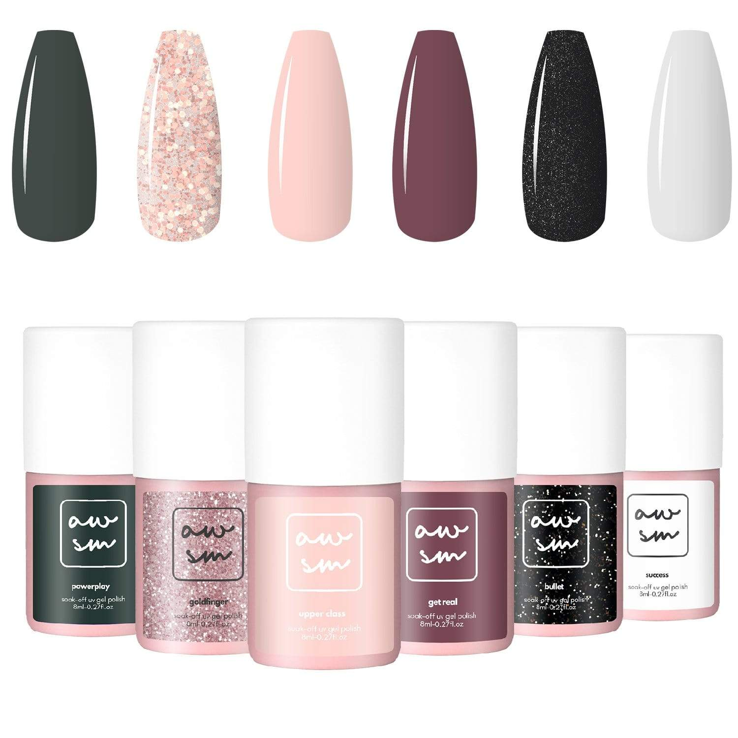 True Queen 6 Color Gel Polish Set