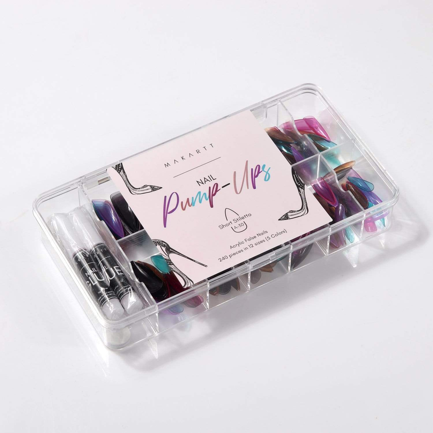 Nail Pump-Ups in Girls' Night Out (240 Pieces) - Makartt