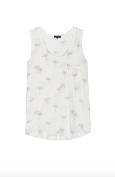 Quinn Scoop Neck Tank - Palms