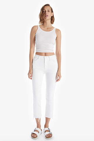 High Waisted Rascal Crop Fray - Fairest