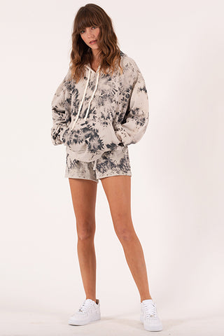 Tie Dye Hooded Sweatshirt - Stone