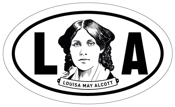 Louisa May Alcott 2x3 Sticker