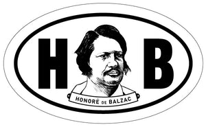 Honoré de Balzac 2x3 Sticker