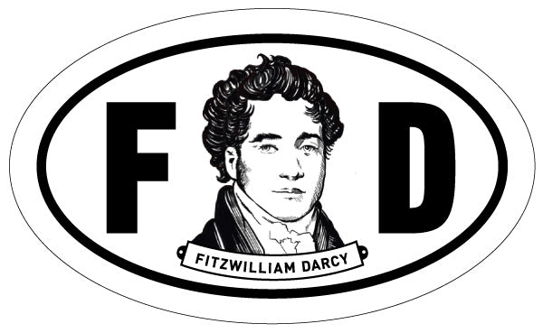 Fitzwilliam Darcy 2x3 Sticker