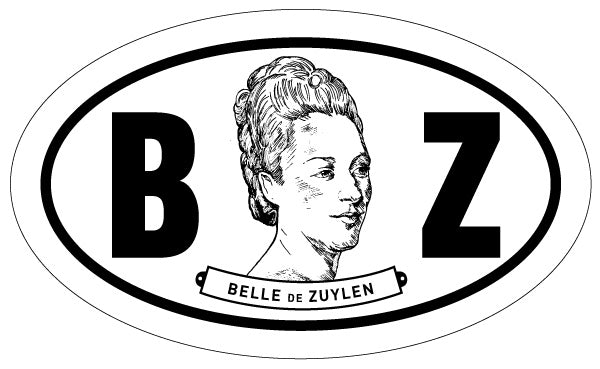 Belle de Zuylen 2x3 Sticker