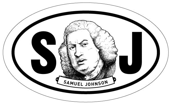 Samuel Johnson 2x3 Sticker