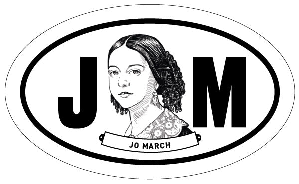 Jo March 2x3 Sticker