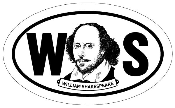 William Shakespeare Sticker