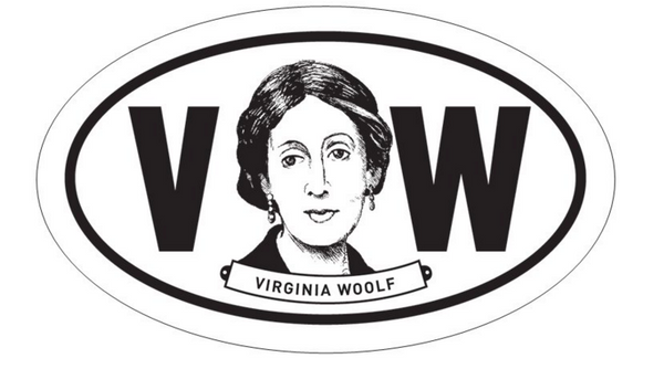 Virginia Woolf Oval Sticker