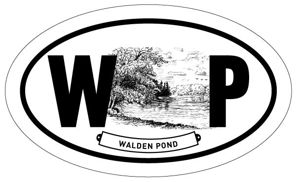 Walden Pond 2x3 Sticker