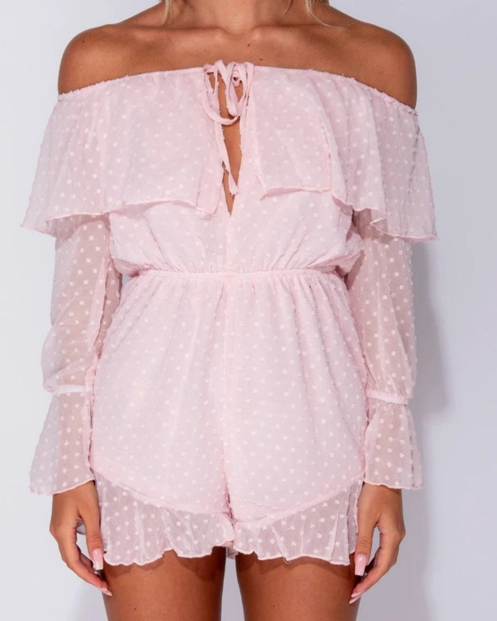 Cocktail Hour Pink Playsuit
