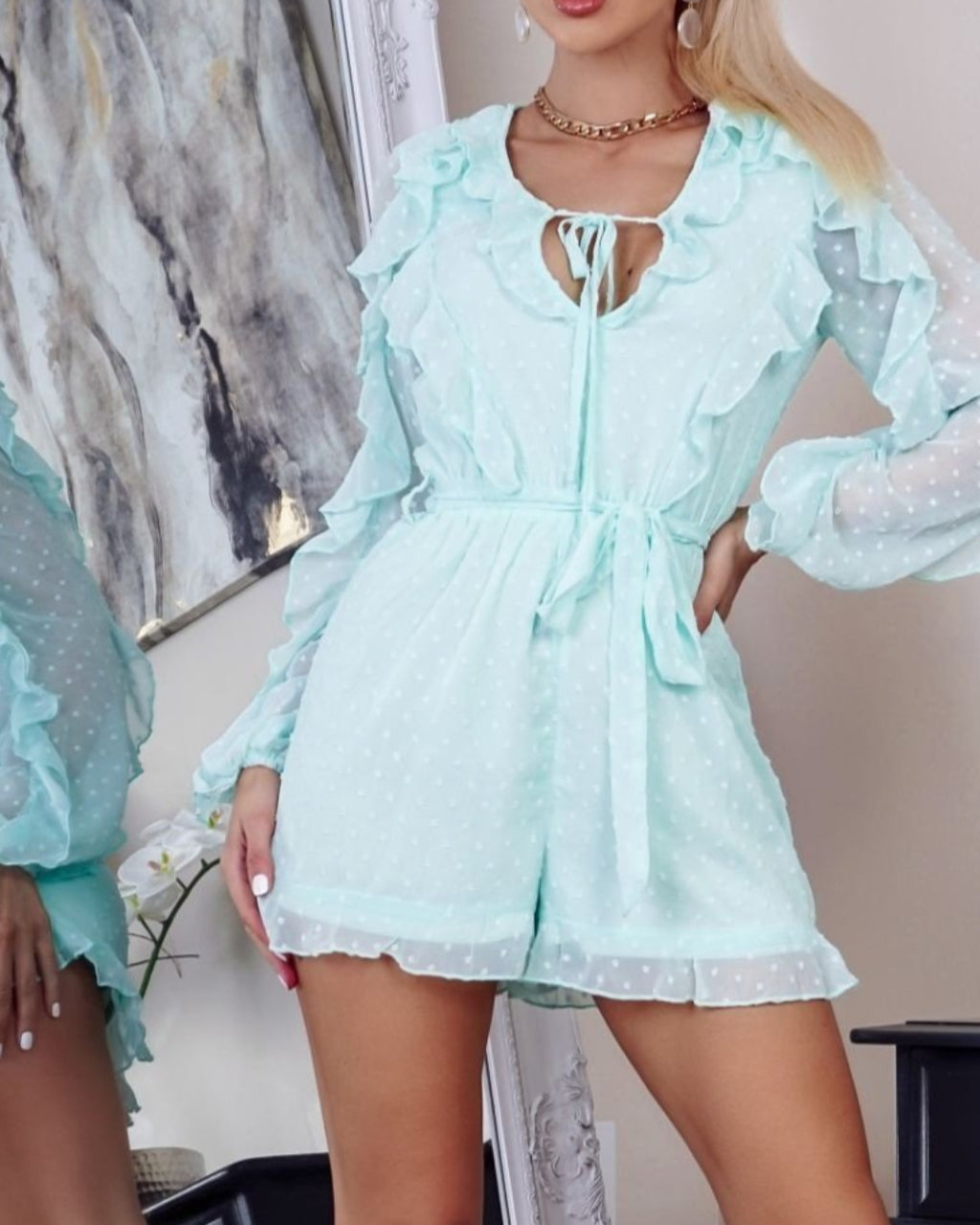 Evie Mint Playsuit